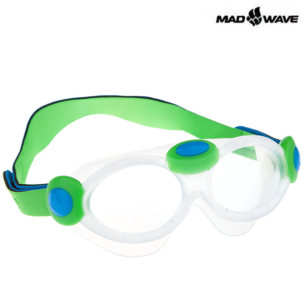 KIDS BUBBLE MASK-GREEN MAD WAVE 패킹 노미러 어린이 수경