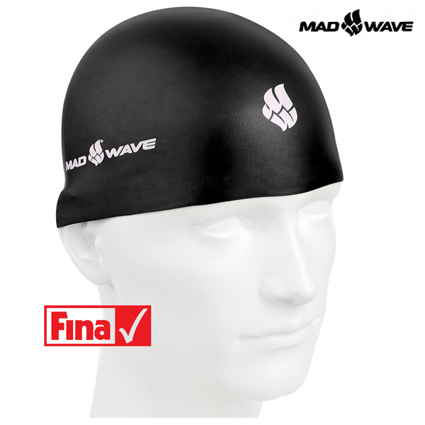 SOFT-BLACK MAD WAVE 실리콘 수모 수영모
