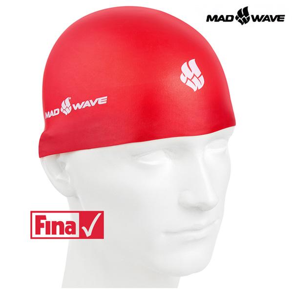 SOFT-RED MAD WAVE 실리콘 수모 수영모