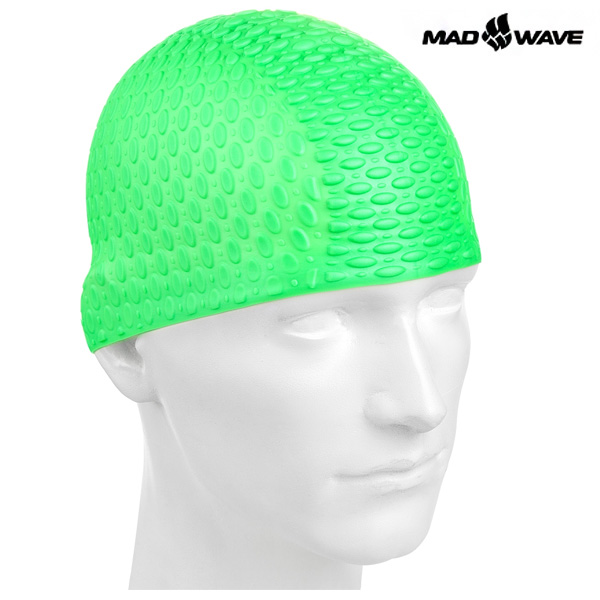 SILICONE BUBBLE-GREEN MAD WAVE 실리콘 수모 수영모