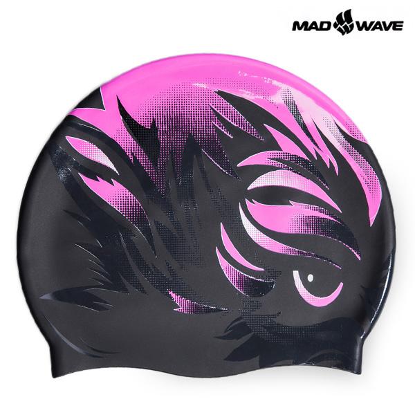 VISION-PINK MAD WAVE 실리콘 수모 수영모