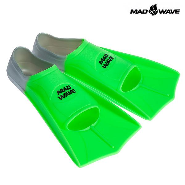 FINS TRAINING-GREEN MAD WAVE 오리발 숏핀