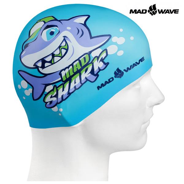 MAD SHARK (AZURE) MAD WAVE 실리콘 수모 주니어