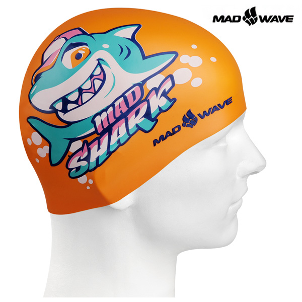 MAD SHARK (ORANGE) MAD WAVE 실리콘 수모 주니어