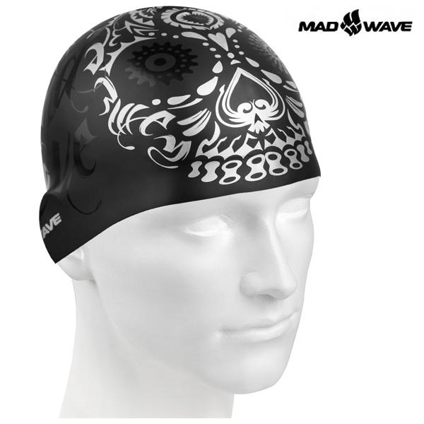 MASK (BLACK) MAD WAVE 실리콘 수모 수영모