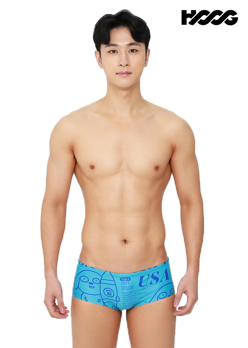 후그 MFA791 슬림핏 남성 사각 수영복
