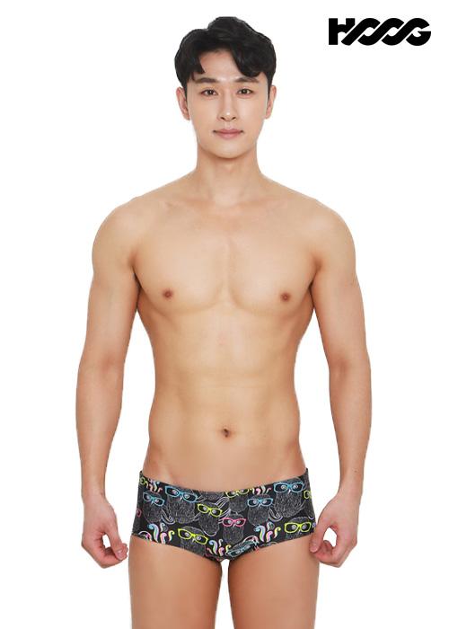 후그 MFT760 슬림핏 탄탄이 남성 숏사각 수영복