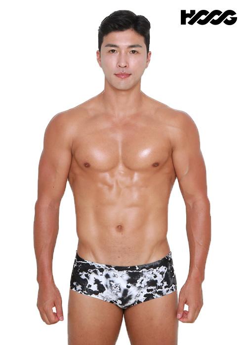 후그 MFT785 슬림핏 탄탄이 남성 숏사각 수영복