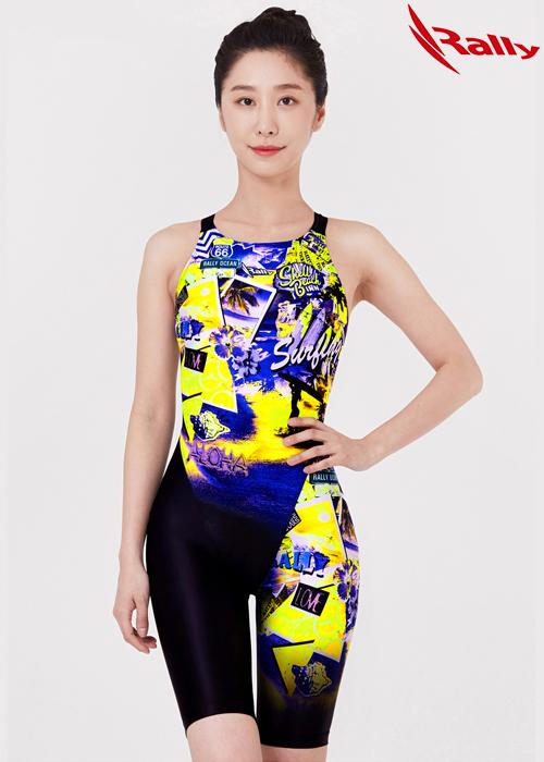 랠리 MSLH202-MLT 여성 5부 반전신 수영복