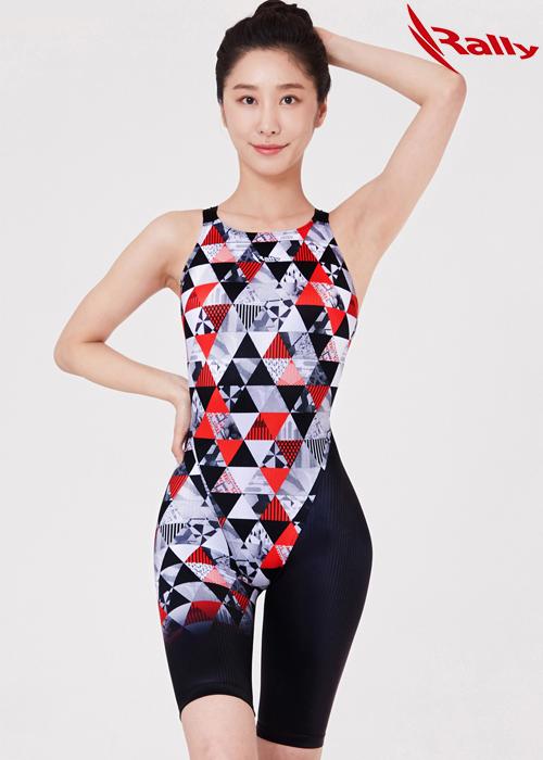 랠리 MSLH204-RED 여성 5부 반전신 수영복