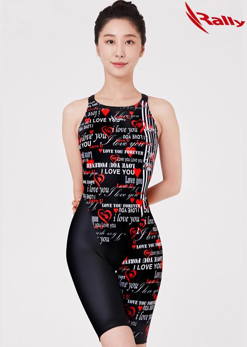 랠리 MSLH205-RED 여성 5부 반전신 수영복