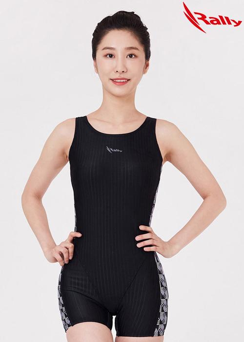 MSLH260-BLK 랠리 RALLY 반전신 아쿠아 수영복