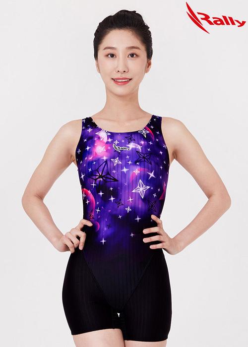 MSLH262-PUR 랠리 RALLY 반전신 아쿠아 수영복