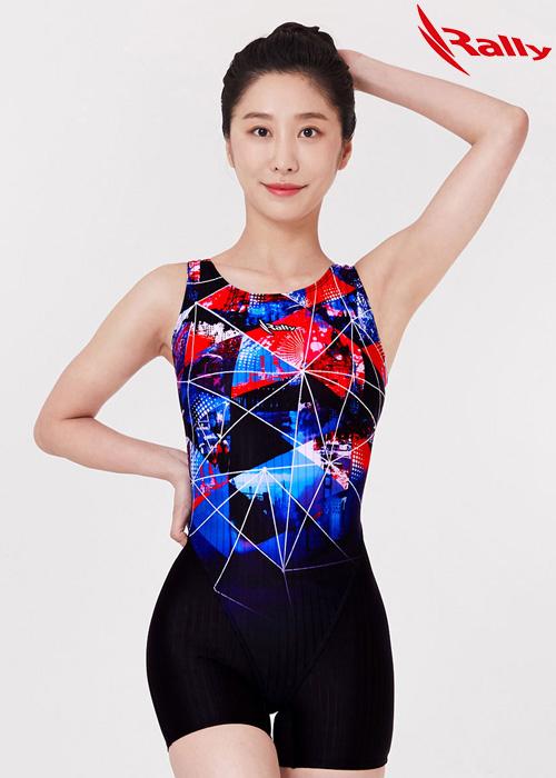 MSLH263-MLT 랠리 RALLY 반전신 아쿠아 수영복