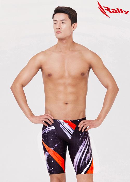 MSMH274-ORG 랠리 RALLY 남자 5부 수영복