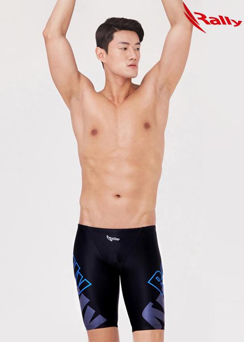 MSMH276-BLK 랠리 RALLY 남자 5부 수영복