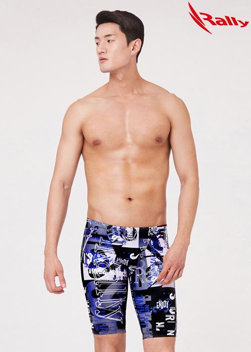 MSMH283-BLK 랠리 RALLY 남자 5부 수영복