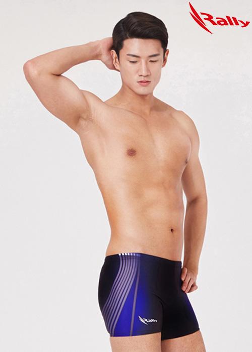 MSMQ306-BLK 랠리 RALLY 남자 사각 수영복