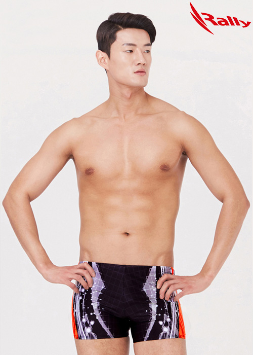MSMQ307-BLK 랠리 RALLY 남자 사각 수영복