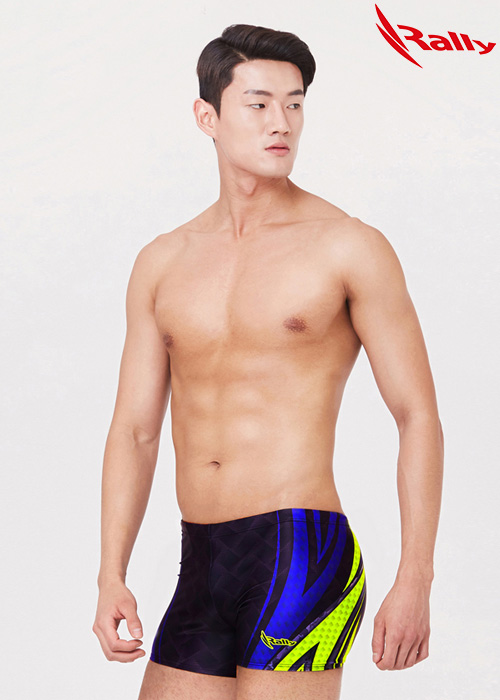 MSMQ309-BLK 랠리 RALLY 남자 사각 수영복