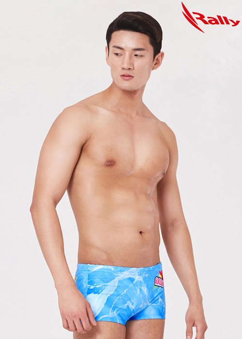 MSMR285-BLU 랠리 RALLY 남자 숏사각 수영복