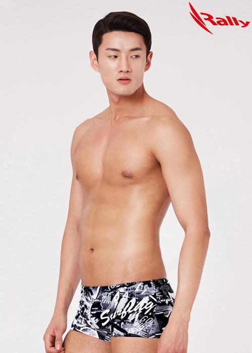 MSMR286-BLK 랠리 RALLY 남자 숏사각 탄탄이 수영복
