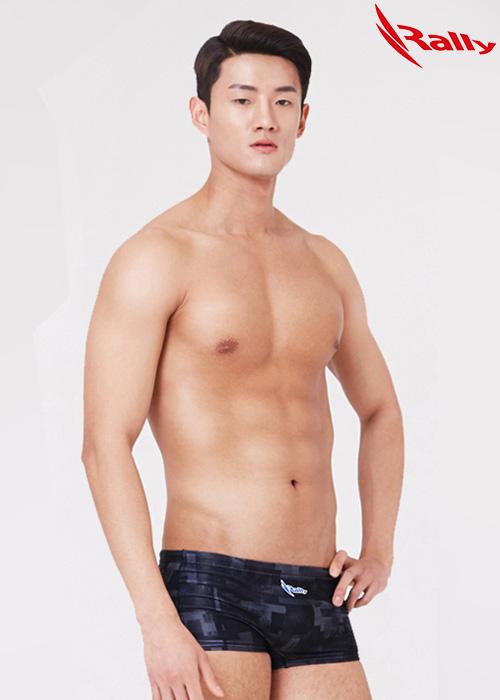 MSMR288-BLK 랠리 RALLY 남자 숏사각 탄탄이 수영복