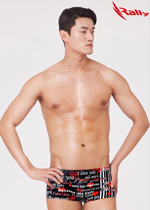 MSMR289-RED 랠리 RALLY 남자 숏사각 탄탄이 수영복