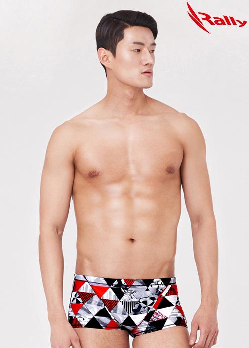 MSMR290-RED 랠리 RALLY 남자 숏사각 탄탄이 수영복
