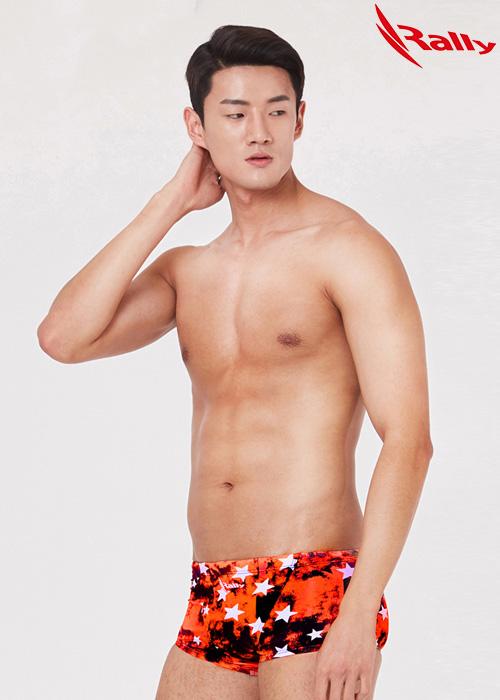 MSMR301-ORG 랠리 RALLY 남자 숏사각 탄탄이 수영복