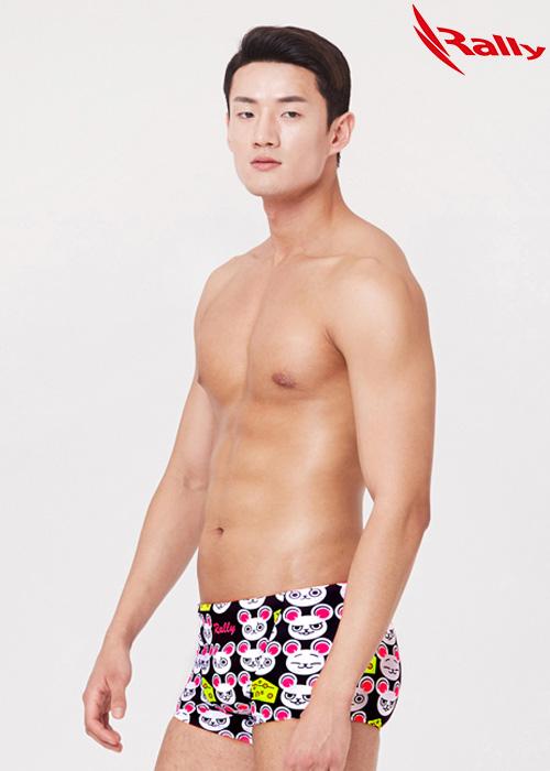 MSMR403-BLK 랠리 RALLY 남자 숏사각 수영복