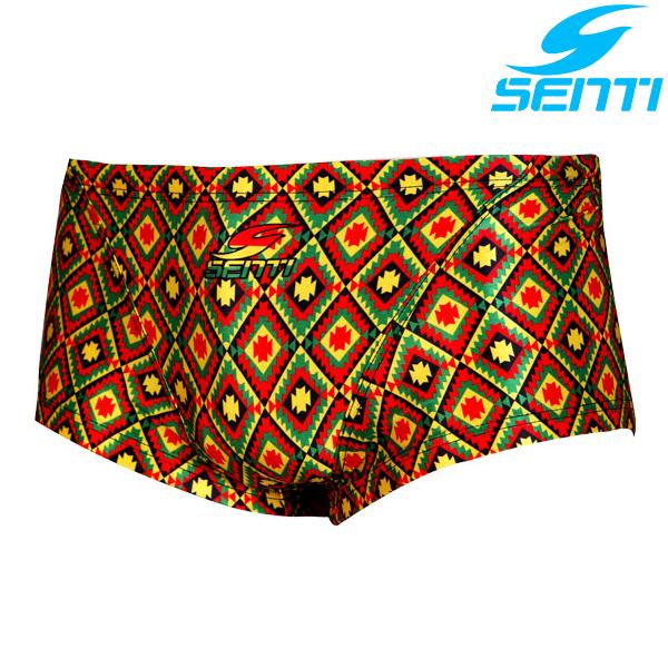 센티 MSP-5408Y-YELLOW 자메이카 남성 선수용 숏사각 수영복