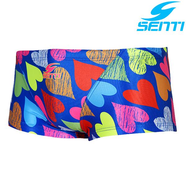 센티 MSP-6407-BLUE 러블리하트 남성 선수용 숏사각 수영복
