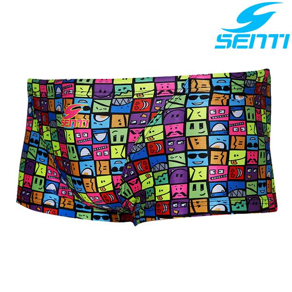 센티 MSP-6422-BLACK 퍼니퍼니 남성 선수용 숏사각 수영복