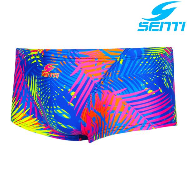 센티 MSP-8432-BLUE 트로피칼 남성 선수용 숏사각 수영복