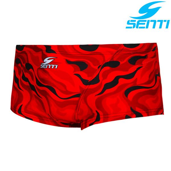 센티 MSP-8436-RED 레드웨이브 남성 선수용 숏사각 수영복