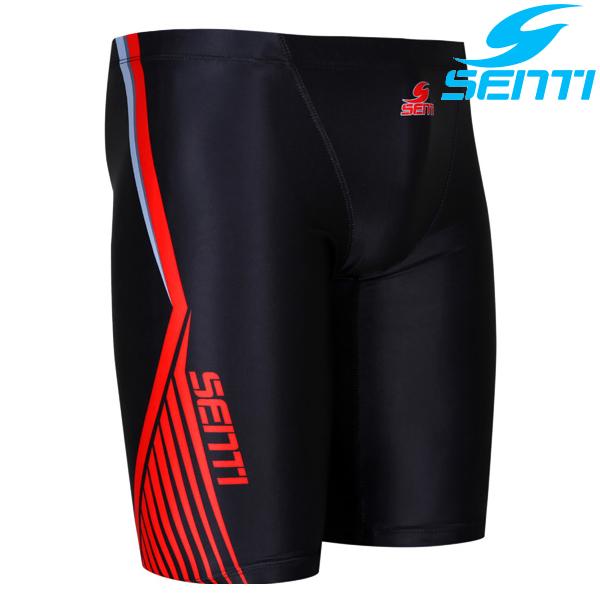 센티 MSTQ-8301-BLACK 레드라인 남성 준선수용 5부 수영복