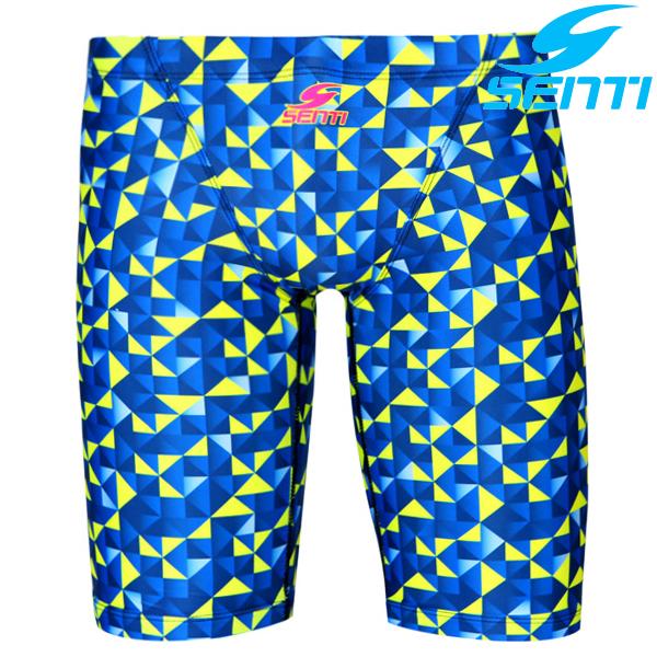 센티 MSTQ-8304-BLUE 파라독스 남성 준선수용 5부 수영복
