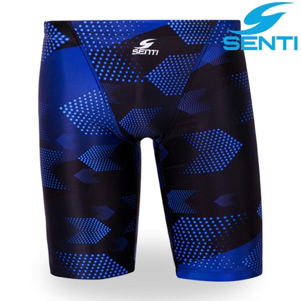 센티 MSTQ-9308-BLACKBLUE 딥애로우 남성 준선수용 5부 수영복