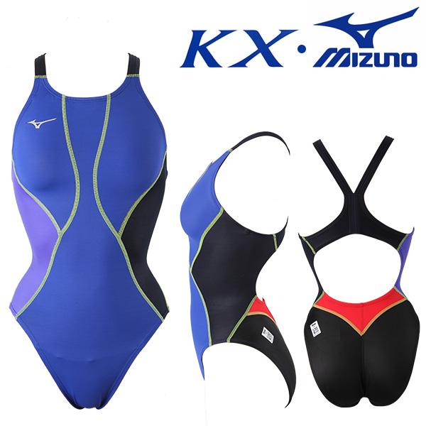 N2XA8236-95 미즈노 MIZUNO KX원단 한정판 여성 원피스 선수용 수영복