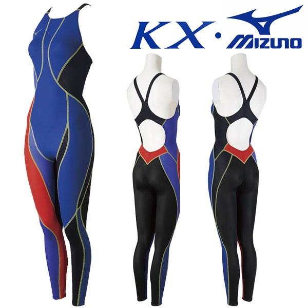 N2XG8236-95 미즈노 MIZUNO KX원단 한정판 여성 전신 선수용 수영복