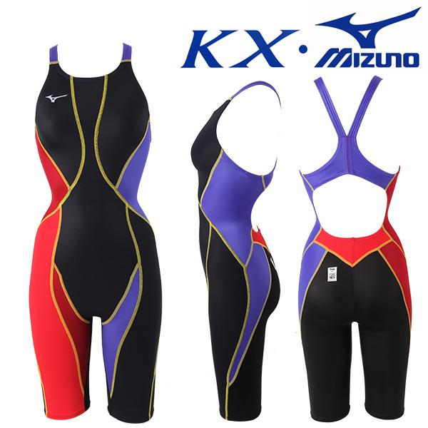 N2XG8237-90 미즈노 MIZUNO KX원단 한정판 여성 반전신 선수용 수영복