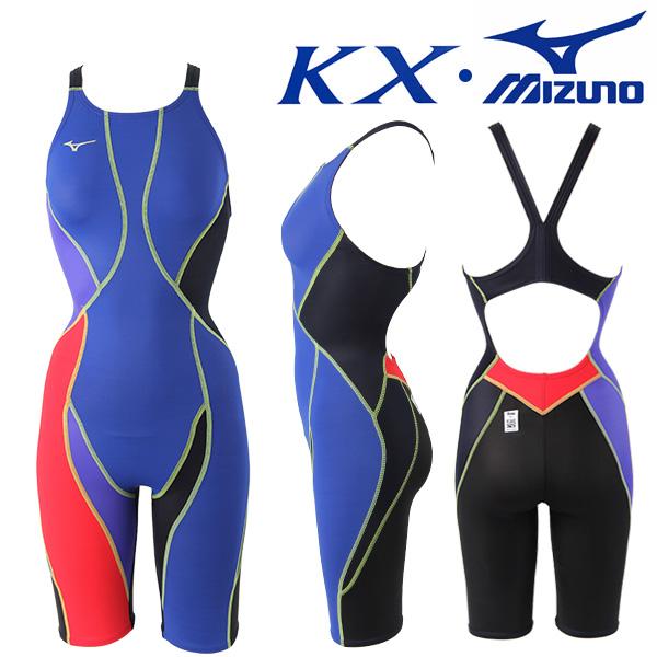 N2XG8237-95 미즈노 MIZUNO KX원단 한정판 여성 반전신 선수용 수영복