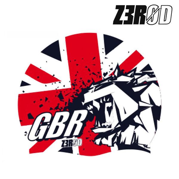 제로드 내셔널 프라이드 영국(GBR) 실리콘 스윔 캡 ZEROD NATIONAL PRIDE SWIM CAP GBR