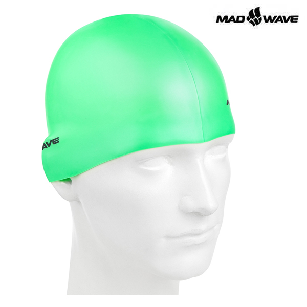 NEON SILICONE SOLID-GREEN 매드웨이브 MAD WAVE 실리콘 수모 수영모