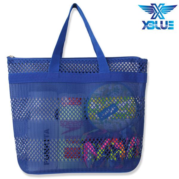 망사비치백-BLU 엑스블루 지퍼 가방 수영용품
