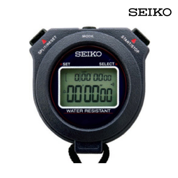 세이코 초시계-W073-블랙
