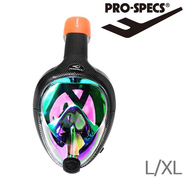 프로스펙스 풀페이스스노클링세트-블랙-LXL
