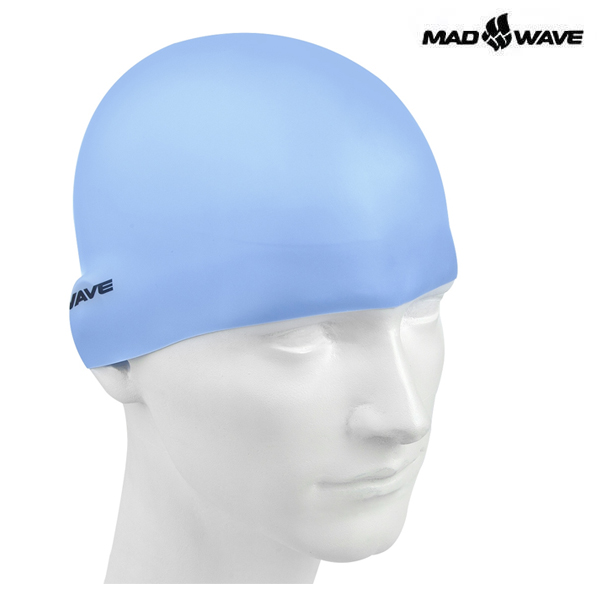 PASTEL-BLUE 매드웨이브 MAD WAVE 실리콘 수모 수영모