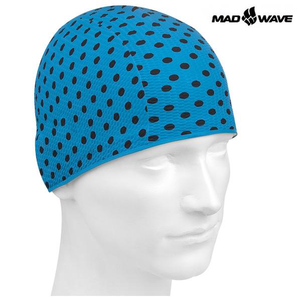 PRINT BUBBLE(BLUE) MAD WAVE 라텍스 수모 수영모